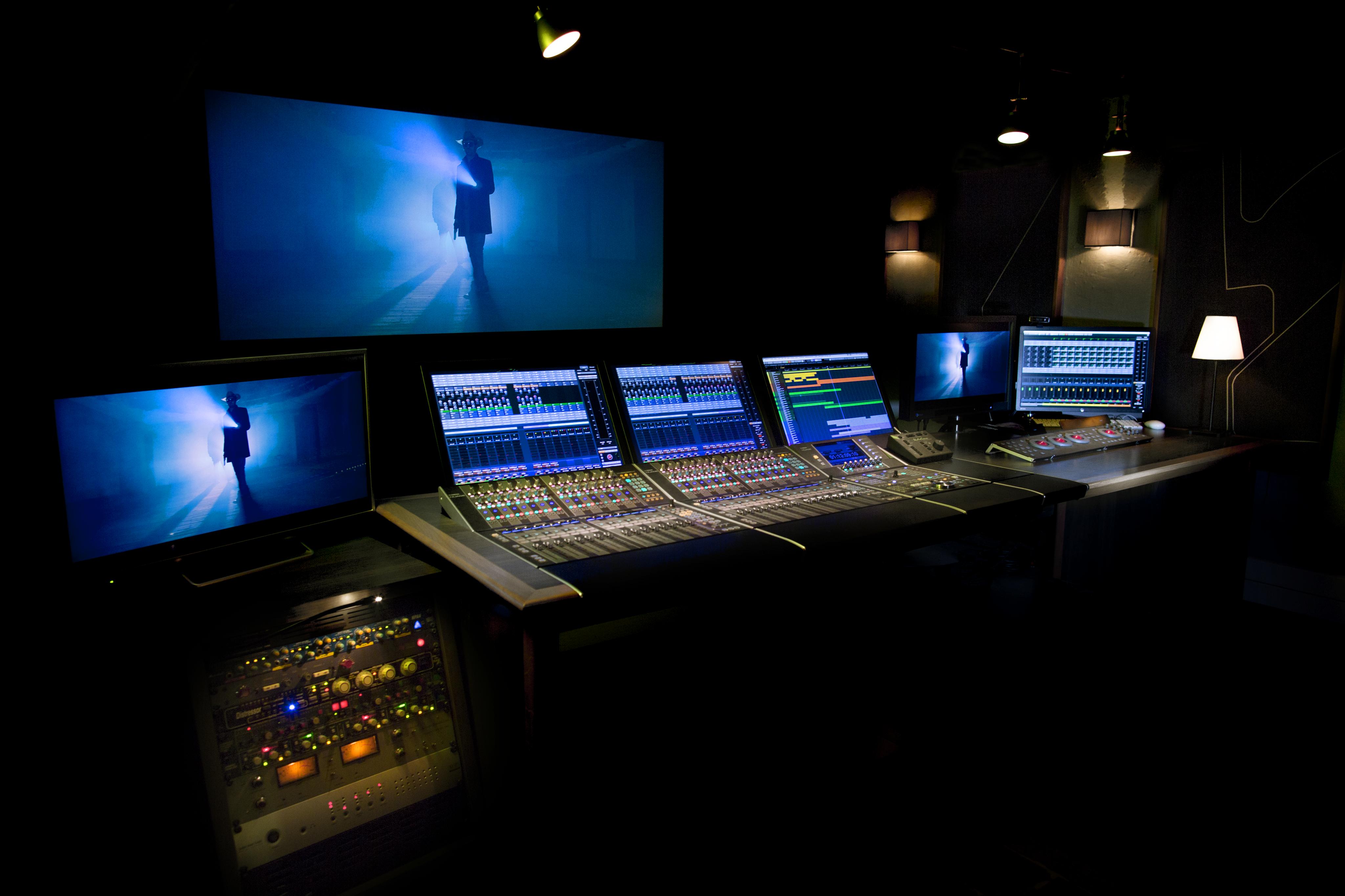 auditorium de mixage cinéma yamaha nuage